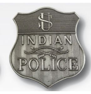 Metall-Abzeichen Indian Police - Nr. 4810