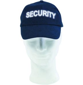 Base-Cap Dunkelblau mit Reflexschrift SECURITY