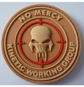 Rubber Patch NO MERCY - KINETIC WORKING GROUP DESERT - Nr. 9035