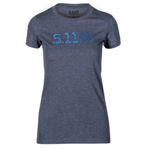 5.11 WMN Legacy Scrolly Fill Tee - Navy Heather
