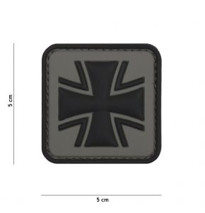 Rubber Patch Bundeswehr-Kreuz ► grau in Gr. 5 x 5 cm
