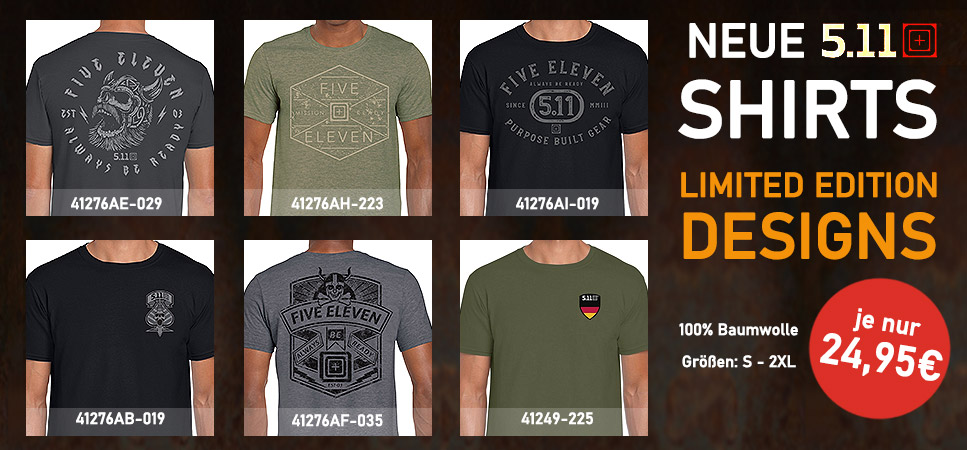 Neue 5.11 Shirt Designs! LIMITED EDITION